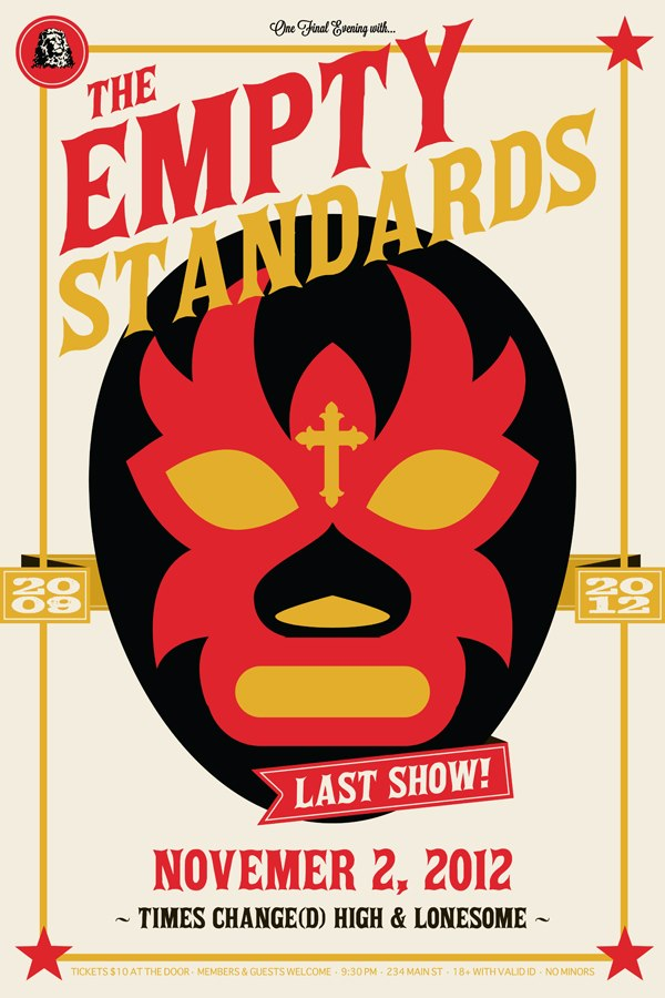 Empty Standards filal show poster